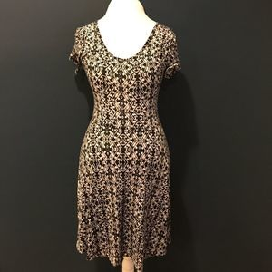 Rue 21 Dress Tribal Skater with Back Cutout